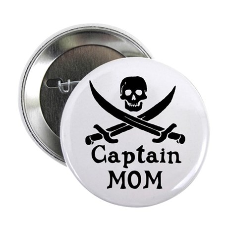 """Captain Mom 2.25"""" Button (100 pack)"""