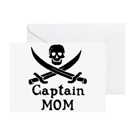 Captain Mom Greeting Card