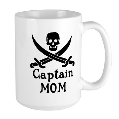 Captain Mom Large Mug