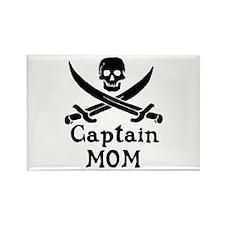 Captain Mom Rectangle Magnet