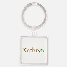 Kathryn Balloons Square Keychain