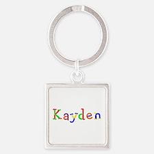 Kayden Balloons Square Keychain