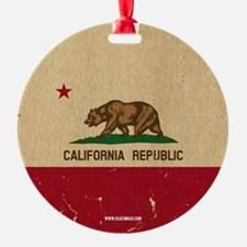 California State Flag VINTAGE Ornament