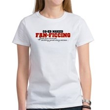 Co-ed Naked Fanficcing (Red) Tee