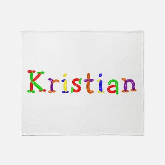 Kristian Balloons Throw Blanket