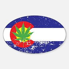 Colorado State Flag, Marijuana, Pot Leaf Decal