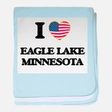 I love Eagle Lake Minnesota baby blanket
