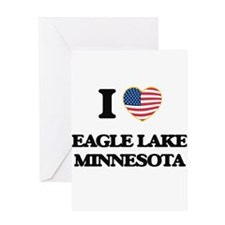 I love Eagle Lake Minnesota Greeting Cards