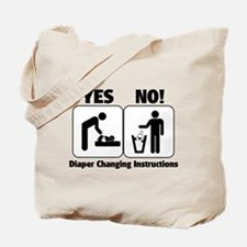 Diaper Changing Instructions Tote Bag