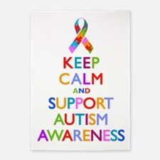 Keep Calm and Support Autism Awareness 5'x7'Area R