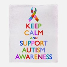 Keep Calm and Support Autism Awareness Throw Blank