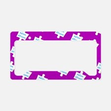 Practice Autism Altruism Purp License Plate Holder