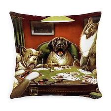 Waterloo Dog Poker Everyday Pillow