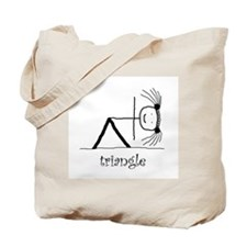 Triangle Yoga pose: Tote Bag