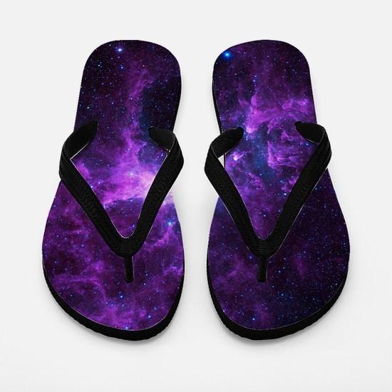 Purple Galaxy Flip Flops