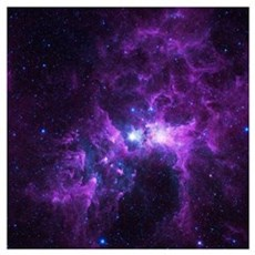 Purple Galaxy Canvas Art