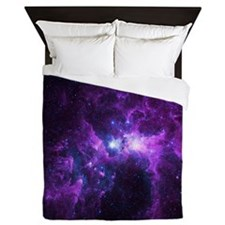 Purple Galaxy Queen Duvet