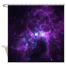 Purple Galaxy Shower Curtain