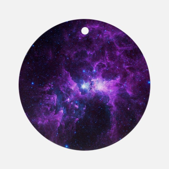 Purple Galaxy Round Ornament