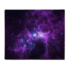 Purple Galaxy Throw Blanket