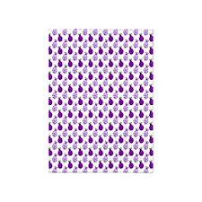 Little Purple Ladybugs 5'x7'Area Rug