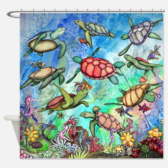 Sea Turtles Shower Curtain