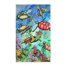 Sea Turtles Area Rug