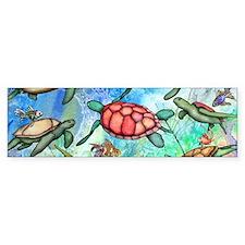 Sea Turtles Bumper Sticker