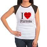 I Love Parrots Adopt A Bird D Women's Cap Sleeve T