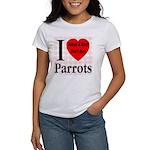 I Love Parrots Adopt A Bird D Women's T-Shirt