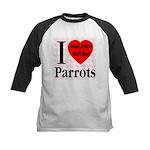 I Love Parrots Adopt A Bird D Kids Baseball Jersey