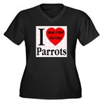 I Love Parrots Adopt A Bird D Women's Plus Size V-