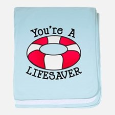 You're A Lifesaver baby blanket