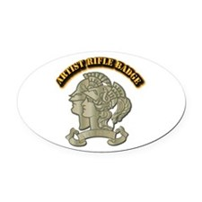 Artist Rifle Badge with Text Oval Car Magnet