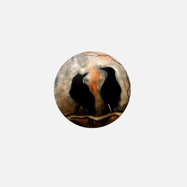 Black Birds Mini Button