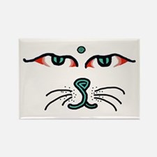 WATCHFUL EYES OF BUDDHA CAT Rectangle Magnet