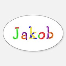 Jakob Balloons Oval Decal