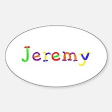 Jeremy Balloons Oval Decal