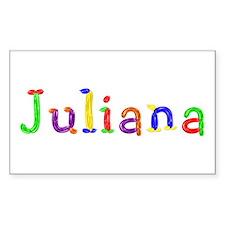 Juliana Balloons Rectangle Sticker 10 Pack