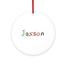 Jaxson Balloons Round Ornament