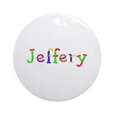Jeffery Balloons Round Ornament