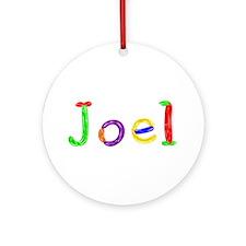 Joel Balloons Round Ornament