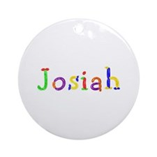 Josiah Balloons Round Ornament