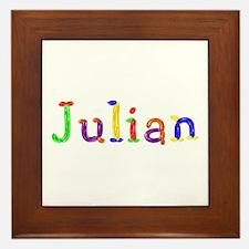 Julian Balloons Framed Tile