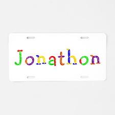 Jonathon Balloons Aluminum License Plate