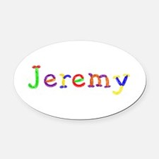 Jeremy Balloons Oval Car Magnet