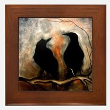 Black Birds Framed Tile
