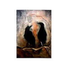 Black Birds 5'x7'area Rug