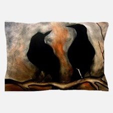 Black Birds Pillow Case
