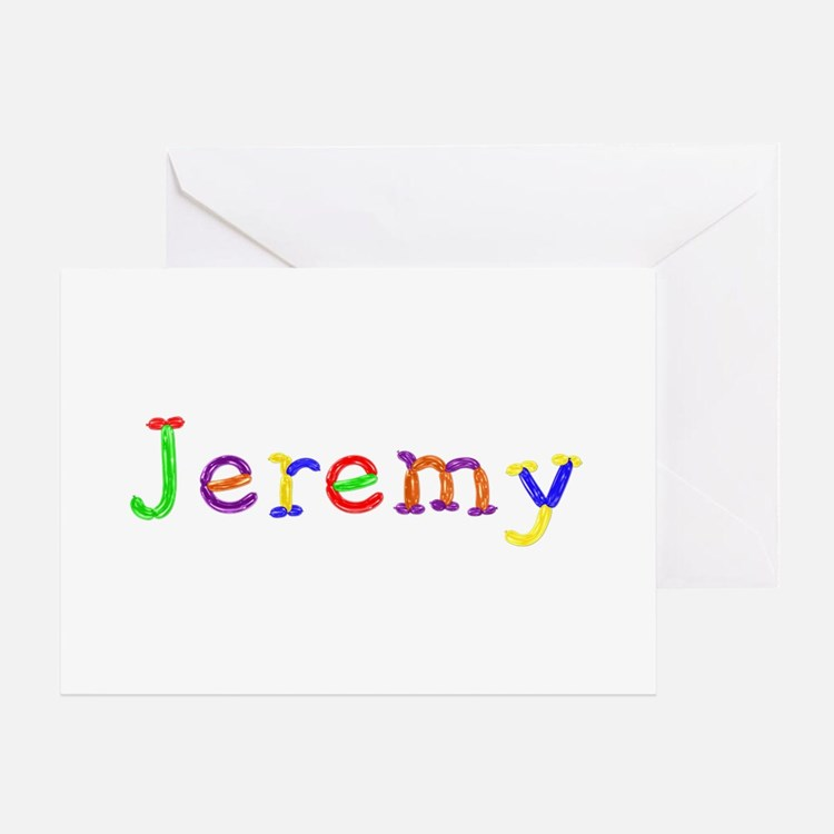 Jeremy Balloons Greeting Card